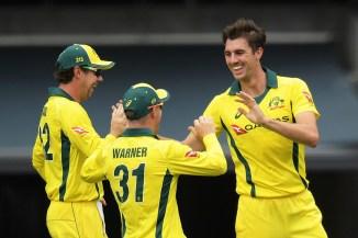 Pat Cummins four wickets Australia England 4th ODI Adelaide cricket
