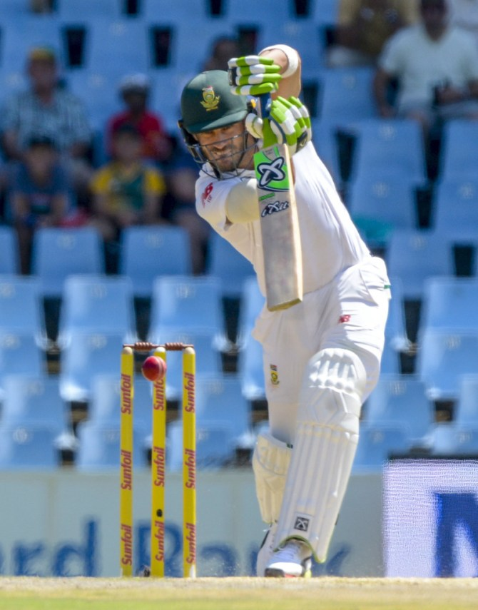 Faf du Plessis fifty South Africa India 2nd Test 2nd Day cricket