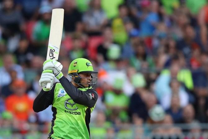 Usman Khawaja 85 Sydney Thunder Perth Scorchers BBL cricket