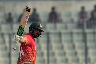 Sikandar Raza fined 15 percent match fee demerit point showing dissent umpire decision Afghanistan Zimbabwe 3rd ODI Sharjah cricket