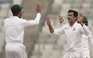 Abdur Razzak four wickets Bangladesh Sri Lanka 2nd Test Day 1 Dhaka cricket