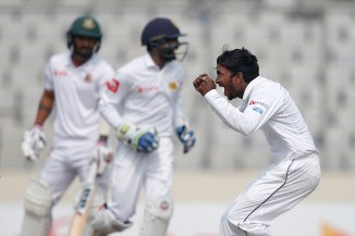 Akila Dananjaya five wickets Bangladesh Sri Lanka 2nd Test Day 3 Dhaka cricket