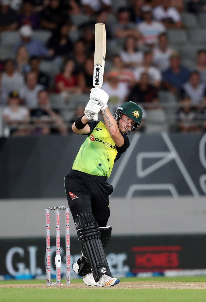 D'Arcy Short 76 New Zealand Australia T20 tri-series Auckland cricket