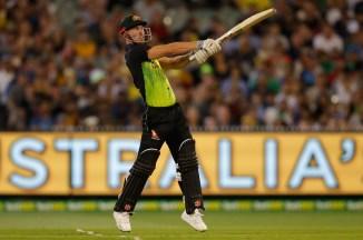 Chris Lynn big score T20 tri-series final Australia England New Zealand cricket