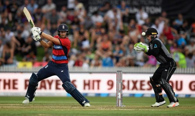 Dawid Malan 53 New Zealand England T20 tri-series Hamilton cricket