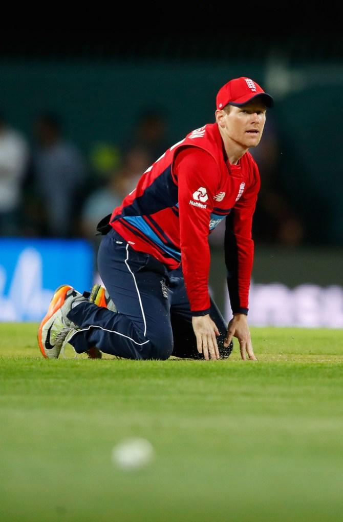 Eoin Morgan potentially miss remainder T20 tri-series groin injury England Australia New Zealand cricket