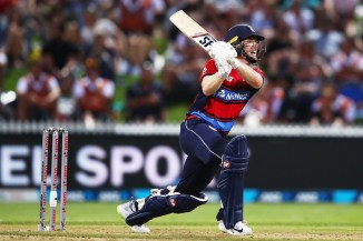 Eoin Morgan 80 New Zealand England T20 tri-series Hamilton cricket