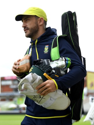 Faf du Plessis training South Africa Australia Test series cricket