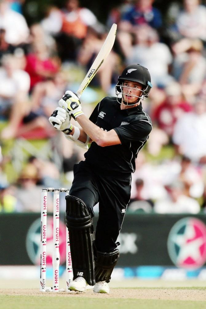 Mitchell Santner 63 New Zealand England 2nd ODI Mount Maunganui cricket