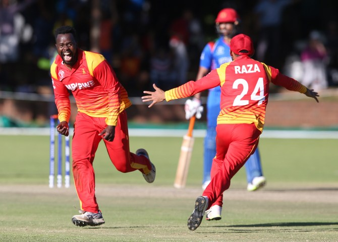 Brian Vitori suspended reported suspect action Zimbabwe cricket