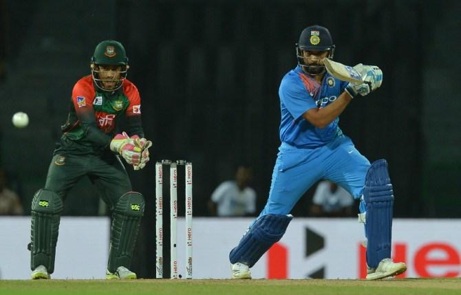 Rohit Sharma 89 India Bangladesh Nidahas Trophy cricket