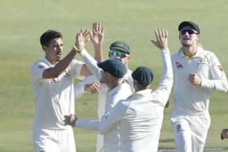 Mitchell Starc five wickets South Africa Australia 1st Test Day 2 Durban cricket