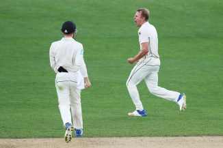 Neil Wagner three wickets New Zealand England 1st Test Day 5 Auckland cricket