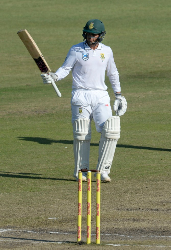 Quinton de Kock 81 not out South Africa Australia 1st Test Day 4 Durban cricket