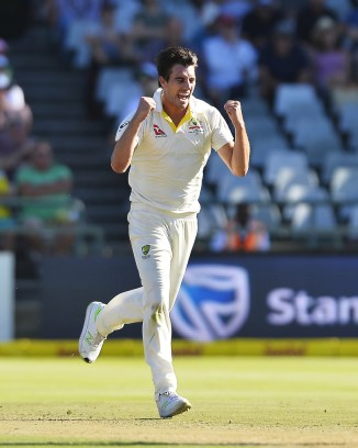 Pat Cummins four wickets South Africa Australia 3rd Test Day 1 Cape Town cricket