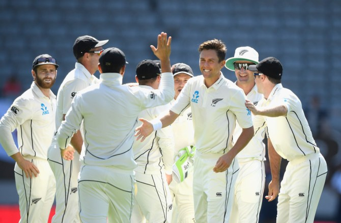 Trent Boult six wickets New Zealand England 1st Test Day 1 Auckland cricket