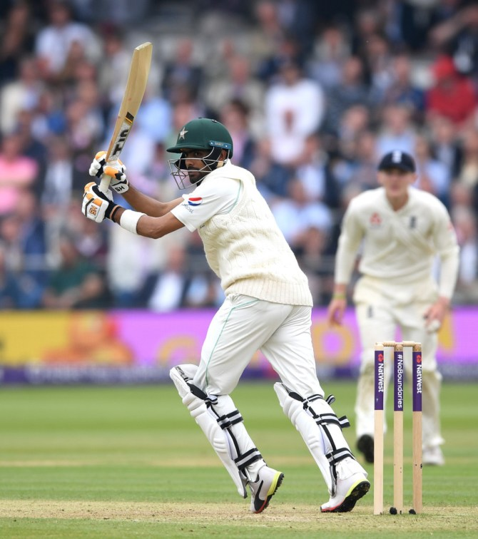 Babar Azam 68 not out retired hurt England Pakistan 1st Test Day 2 Lord's cricket