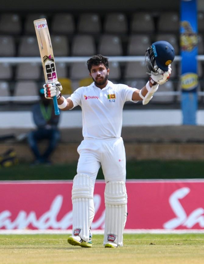 Kusal Mendis 102 West Indies Sri Lanka 1st Test Day 5 Trinidad cricket