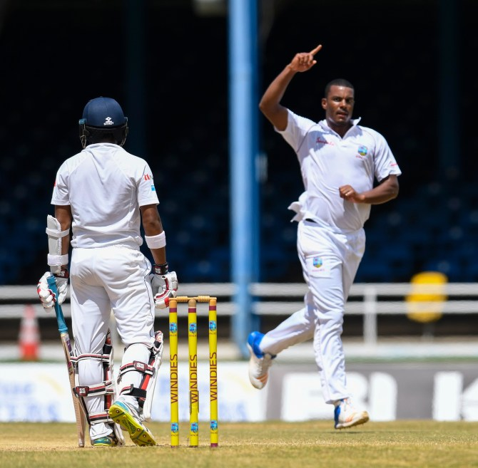 Shannon Gabriel five wickets West Indies Sri Lanka 2nd Test Day 1 St Lucia cricket