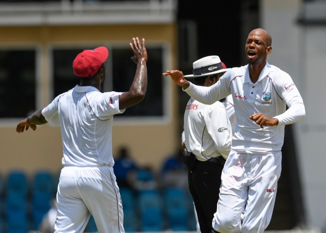 Roston Chase four wickets West Indies Sri Lanka 1st Test Day 5 Trinidad cricket