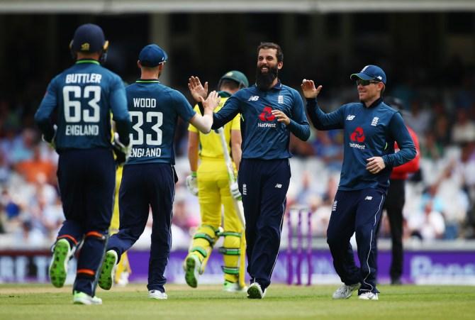 Moeen Ali three wickets England Australia 1st ODI The Oval cricket