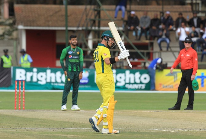 D'Arcy Short 76 Pakistan Australia T20 tri-series final Harare cricket