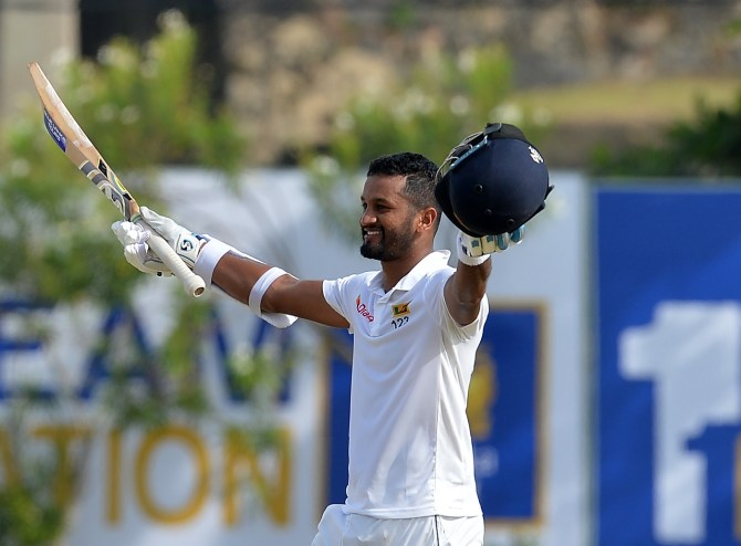 Dimuth Karunaratne 158 not out Sri Lanka South Africa 1st Test Day 1 Galle cricket