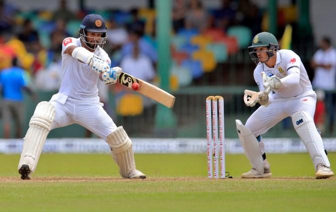 Dimuth Karunaratne 53 Sri Lanka South Africa 2nd Test Day 1 Colombo cricket