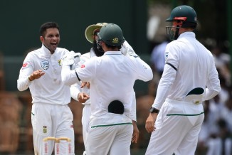 Keshav Maharaj eight wickets Sri Lanka South Africa 2nd Test Day 1 Colombo cricket