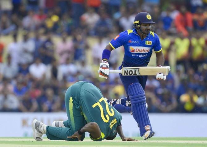Kusal Perera 81 Sri Lanka South Africa 1st ODI Dambulla cricket