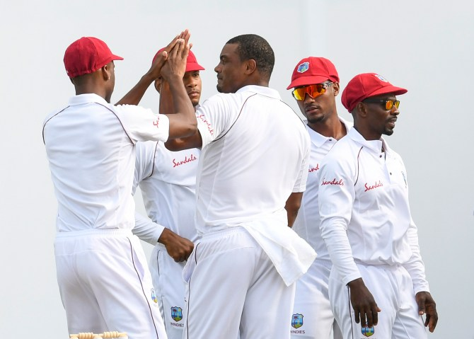 Shannon Gabriel four wickets West Indies Bangladesh 1st Test Day 2 Antigua cricket