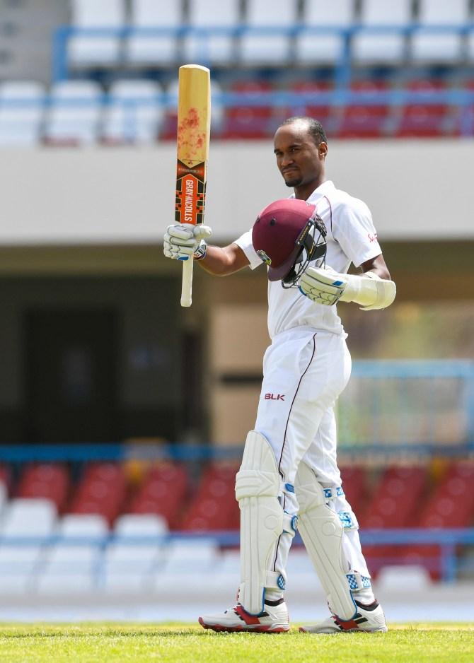 Kraigg Brathwaite 121 West Indies Bangladesh 1st Test Day 2 Antigua cricket