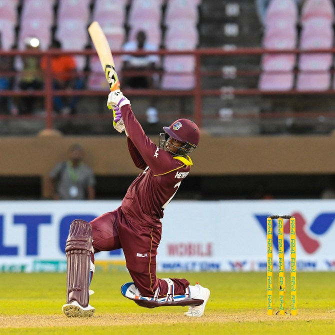 Shimron Hetmyer 125 West Indies Bangladesh 2nd ODI Guyana cricket