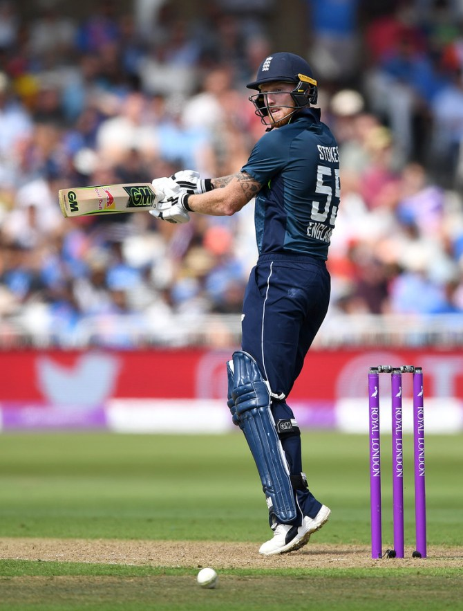Ben Stokes 50 England India 1st ODI Nottingham cricket
