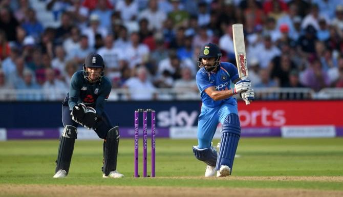 Virat Kohli 75 England India 1st ODI Nottingham cricket