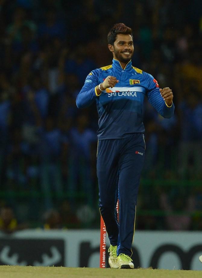 Dhananjaya de Silva two wickets 31 runs Sri Lanka South Africa Only T20 Colombo cricket