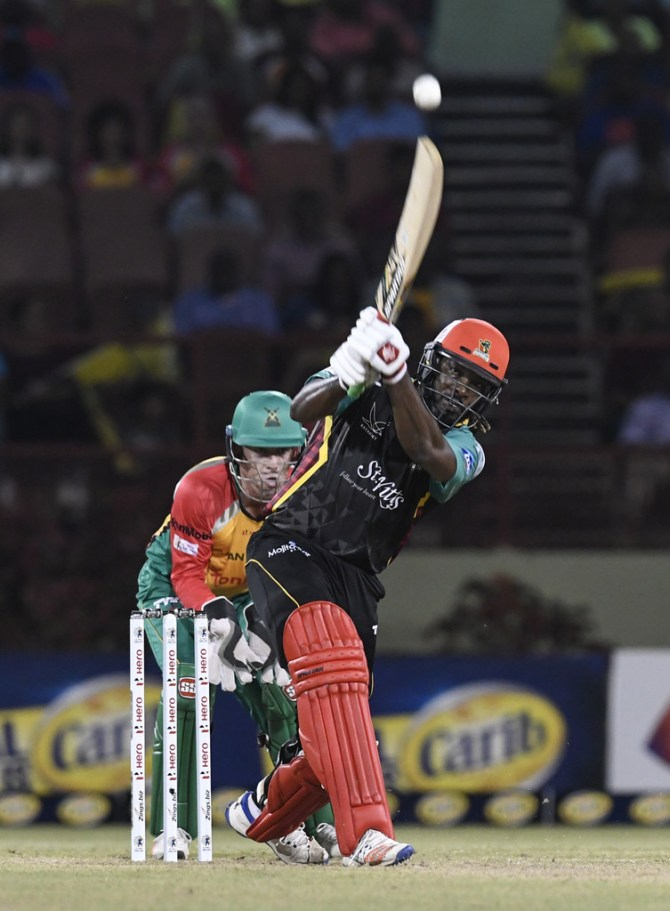 Chris Gayle 86 Guyana Amazon Warriors St Kitts and Nevis Patriots CPL 2018 2nd Match cricket