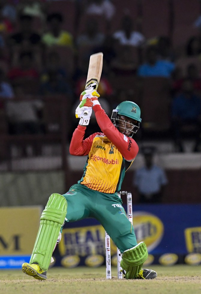 Shimron Hetmyer 79 not out Guyana Amazon Warriors St Kitts and Nevis Patriots CPL 2018 2nd Match cricket
