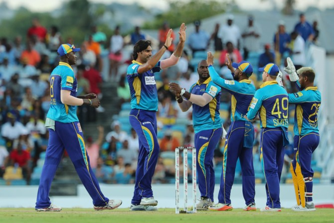 Mohammad Irfan two wickets one run four overs St Kitts and Nevis Patriots Barbados Tridents Caribbean Premier League CPL cricket