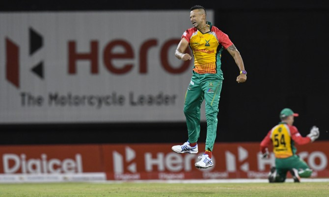 Rayad Emrit three wickets Guyana Amazon Warriors St Lucia Stars Caribbean Premier League CPL cricket
