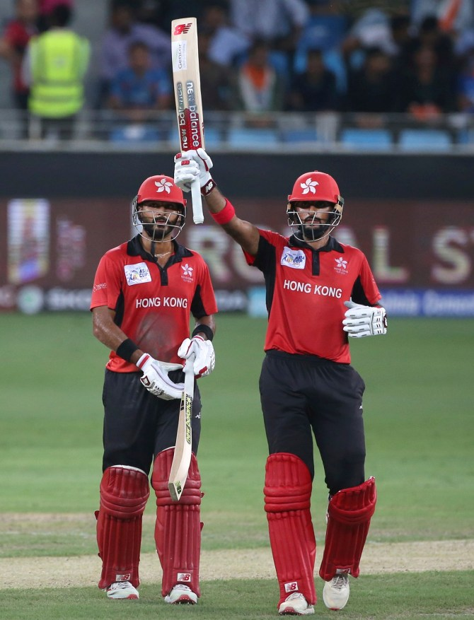 Anshuman Rath Nizakat Khan record 174-run partnership Hong Kong India Asia Cup cricket