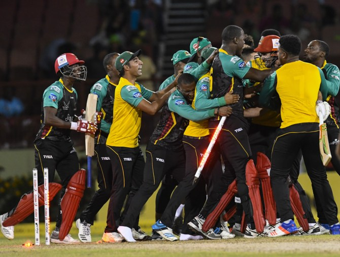 Ben Cutting penultimate ball six St Kitts and Nevis Patriots eliminate Jamaica Tallawahs eliminator Caribbean Premier League CPL cricket