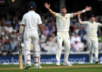 James Anderson fined 15 percent match fee given demerit point showing dissent England India 5th Test The Oval cricket