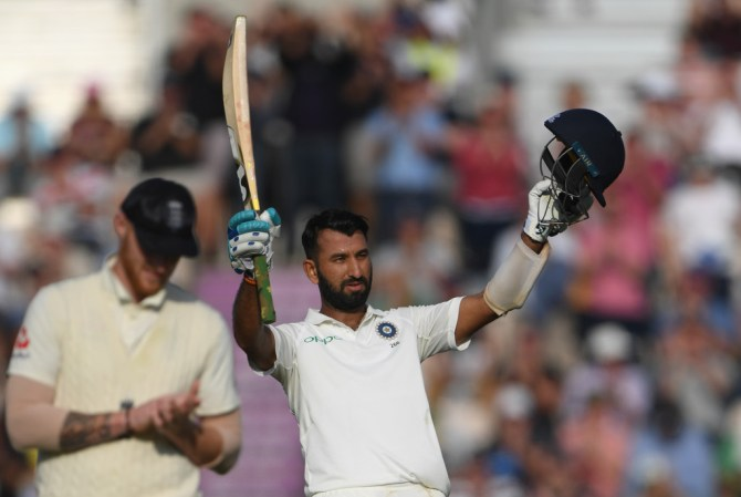 Cheteshwar Pujara 132 not out England India 4th Test Day 2 Southampton cricket