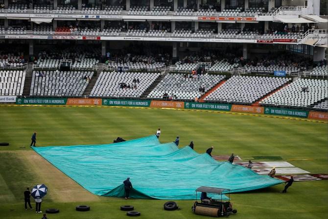 South Africa Zimbabwe 3rd T20 abandoned persistent rain Benoni cricket