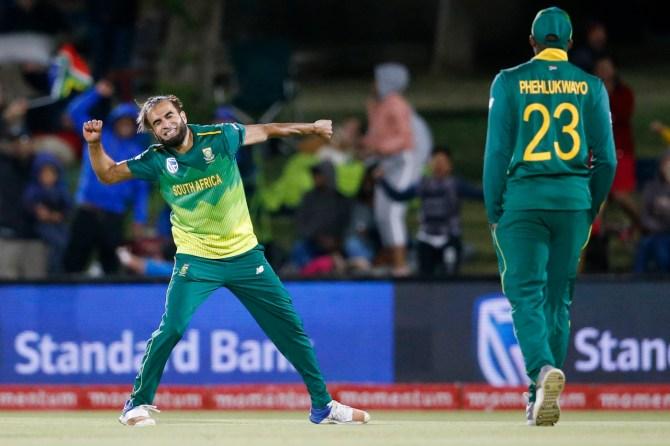 Imran Tahir six wickets hat-trick South Africa Zimbabwe 2nd ODI Bloemfontein cricket
