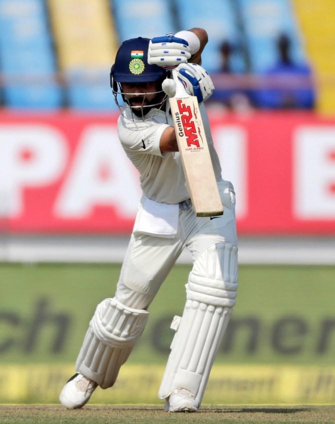 Virat Kohli 72 not out India West Indies 1st Test Day 1 Rajkot cricket