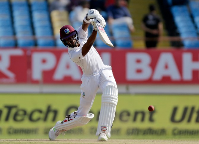Roston Chase 53 India West Indies 1st Test Day 3 Rajkot cricket