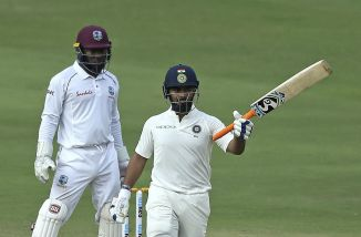 Rishabh Pant 85 not out India West Indies 2nd Test Day 2 Hyderabad cricket