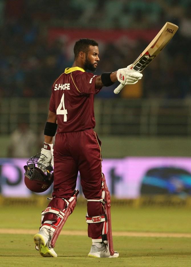 Shai Hope 123 not out India West Indies 2nd ODI Visakhapatnam cricket